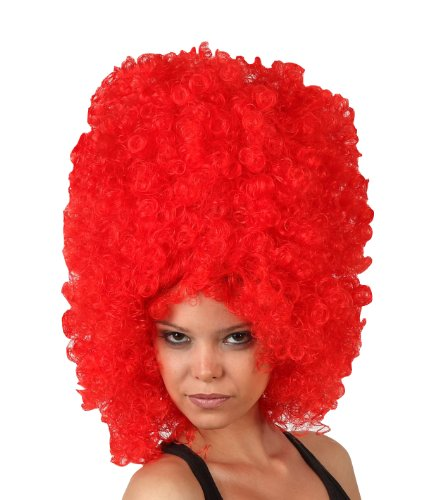 Imagen principal de Big red afro wig for adults (peluca)