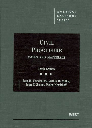 Friedenthal, Miller, Sexton, and Hershkoff's Civil...