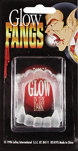 Loftus Glow in the Dark Vampire Fangs, White, One-Size - 1