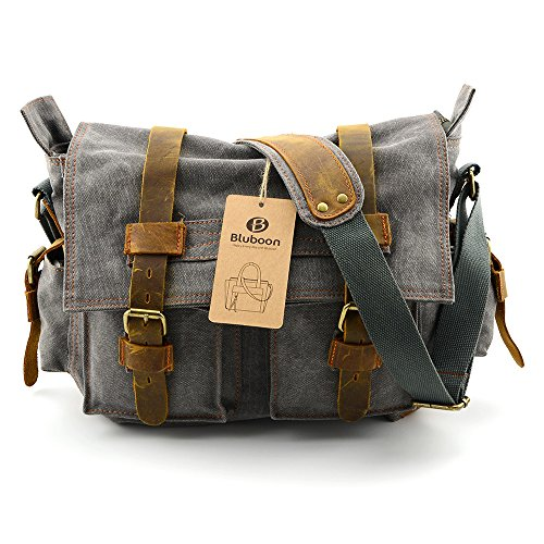 BLUBOON Satchels Bookbags Mens Bags Messenger Bags Single Shoulder Bags Vintage Crossbody Bags with Durable Canvas...