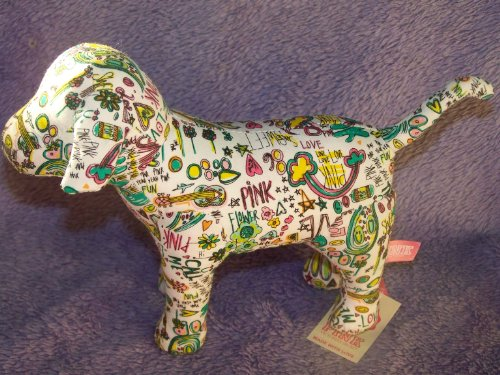 Victoria's Secret Pink GRAFFITI STYLE Dog Plush - 1