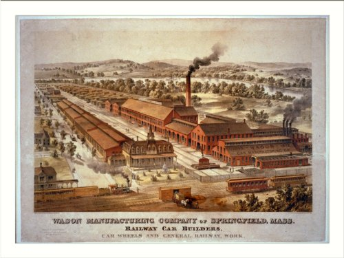 Historic Print (M): Wason Manufacturing Company of Springfield, Mass. - railway car builders, car wheels and