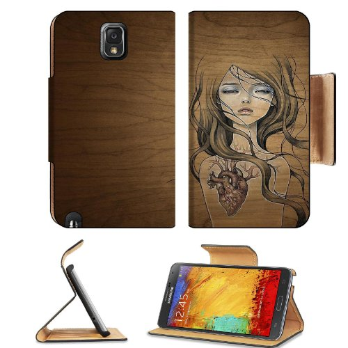 Pattern Heart Girl Samsung Galaxy Note 3 N9000 Flip Case Stand Magnetic Cover Open Ports Customized Made To Order Support Ready Premium Deluxe Pu Leather 5 15/16 Inch (150Mm) X 3 1/2 Inch (89Mm) X 9/16 Inch (14Mm) Liil Note Cover Professional Note 3 Cases front-597838
