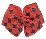 Puppy Kisses &#8220;Race Car&#8221; Dog Hair Bow &#8211; Metal barrette closure, Made with SWAROVSKI ELEMENTS