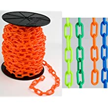 "Mr. Chain 30105 High Density Polyethylene Chain on a Reel, Trade Size 6, 200' Length x 1-1/2"" Width"