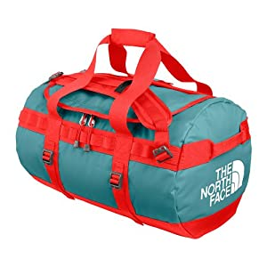 The North Face Base Camp Duffel - Small Storm Blue/Fire Brick Red