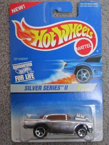1995 Hotwheels #3 of 4 Silver Series ll 57 Chevy Big Blown Engine - 1