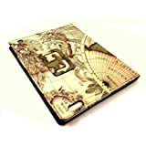 TB1 Products ® Premium Quality iPad 3 Classic World Map Pattern PU Leather Case for Apple iPad 3