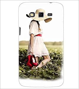 PrintDhaba Hat Girl D-3360 Back Case Cover for SAMSUNG GALAXY GRAND 2 (Multi-Coloured)