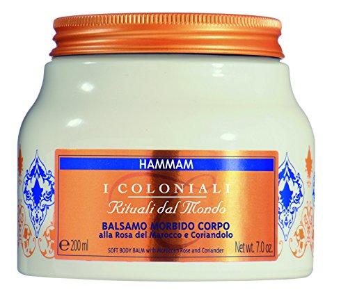 Atkinsons I Coloniali Rituali dal Mondo - Hammam - Balsamo Morbido Corpo alla Rosa del Marocco e Coriandolo 200 ml