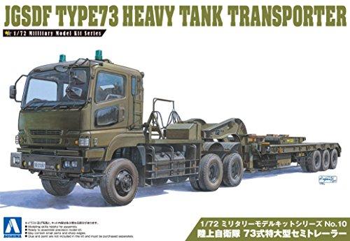 Aoshima Models JGSDF Type 73 Heavy Tank Transporter Model Kit (1/72 Scale) (Tank Transporter compare prices)