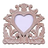 Store Indya Hand Carved Heart Shape Wooden Handmade Table Top Photo Frame - A Perfect Gift