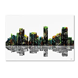 Trademark Fine Art Denver Colorado Skyline Wall Decor by Marlene Watson, 30 by 47\