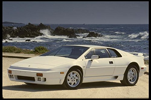 White Lotus Esprit SE on the beach - A4 Photo Poster