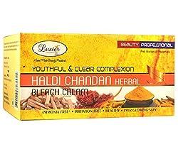 Luster Youthful & Clear Complexion Haldi Chandan Herbal Bleach Cream (with Pre Bleach Cream & Post Bleach Pack) - 500ml