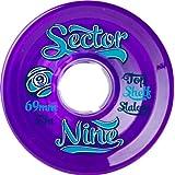 Sector 9 Top Shelf Nine Balls Skateboard Wheel, Purple, 69mm 78A (Color: Purple, Tamaño: 69mm 78A)