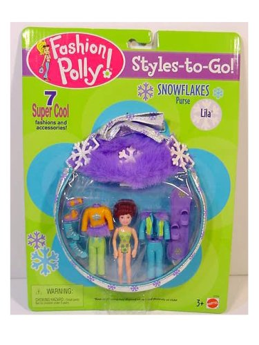 Fashion Polly Pockets STYLES TO GO Lila Snowflakes Purse - Buy Fashion Polly Pockets STYLES TO GO Lila Snowflakes Purse - Purchase Fashion Polly Pockets STYLES TO GO Lila Snowflakes Purse (Polly Pocket, Toys & Games,Categories,Dolls,Playsets,Fashion Doll Playsets)