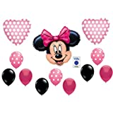 PINK MINNIE MOUSE BIRTHDAY PARTY Balloons Decorations Supplies