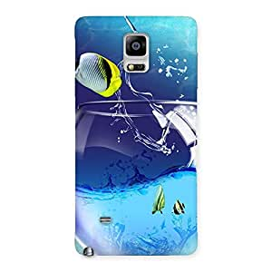 Mini Pot Fish Back Case Cover for Galaxy Note 4