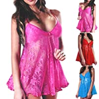 Sexy Floral Mesh Lace Padded Cup Nightwear Sleepwear Babydoll Nighty Nightdress , perfect gift for your lover * UK 4 6 8 10 12 14 16 18 *
