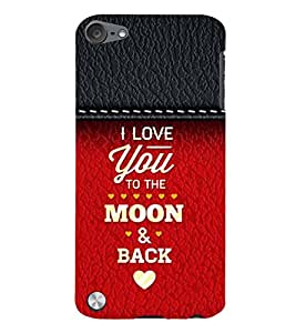 99Sublimation Love Quotes 3D Hard Polycarbonate Back Case Cover for Apple iPod Touch 5