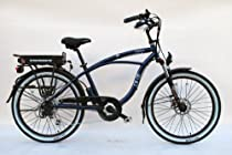 EG Oahu EX Electric Bike - Glossy Metallic Midnight Blue.