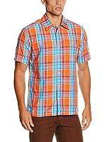 SALEWA Camisa Hombre Triumph Dry M (Naranja / Turquesa)