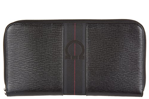 Salvatore Ferragamo portafoglio portamonete donna in pelle bifold nero
