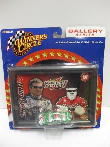 2002 Winner's Circle . NASCAR . . Bobby LABONTE #18 Interstate batteries - Pontiac Grand Prix - 1/64 scale Die cast & Framed Art - Gallery Series by Action (Nascar Pontiac compare prices)