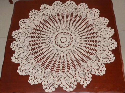 HandmadeCrochet Doilies, Round Tablecloths, CottonHollow Decorative ...