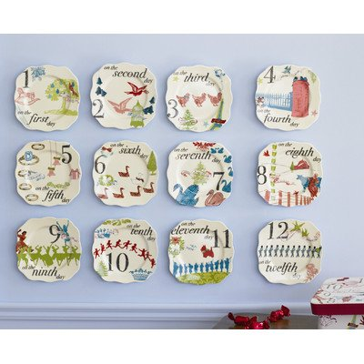 12 Days of Christmas Appetizer Plates
