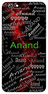 Anand (Bliss,Happiness) Name & Sign Printed All over customize & Personalized!! Protective back cover for your Smart Phone : Samsung Galaxy Note-4