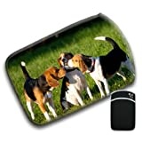 3 Beagle Dogs Playing For Amazon Kindle Fire & Kindle 3G Keyboard Soft Protection Neoprene Case Cover Sleeve Bag With Pocket which is Ideal for Headphones, Data Cable etc