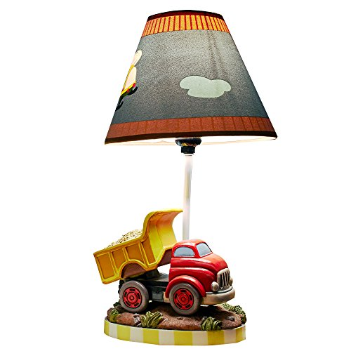 Fantasy Fields - Transportation Thematic Kids Table Lamp   Imagination Inspiring Hand Painted Details   Non-Toxic, Lead Free Water-based Paint (Dump Truck Lamp compare prices)