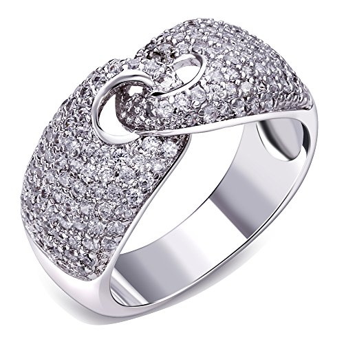 K-DESIGN White gold plated rings girl jewelry Women's jewelry ring fashion jewelry for women Designer jewerly Rings jewelry Top quality 53 (16.9)