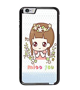 Fuson Premium Miss You Metal Printed with Hard Plastic Back Case Cover for Apple iPhone 6