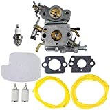 HIPA C1M-W26 Carburetor with 530057925 Air Filter Fuel Line Filter Tune-up Kit for Poulan P3314 P3416 P3816 P4018 PP3416 PP3516 PP3816 PP4018 PP4218 PPB3416 PPB4018 PPB4218 S1970 Power Gas Chainsaw