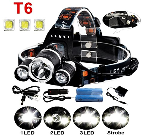 5000Lumen-Bright-3-CREE-XM-L-XML-T6-LED-HeadlampKissAirTM-Waterproof-Flashlight-Torch-4-Modes-Headlight-with-Rechargeable-Batteries-for-Hiking-Camping-Outdoor-Riding-Night-Fishing-Hunting-Running-Nigh