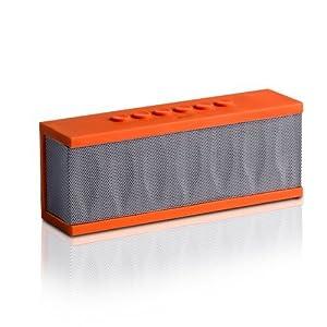 Photive CYREN Portable Wireless Bluetooth Speaker with Built in Speakerphone & 8 hour Rechargeable Battery - Orange