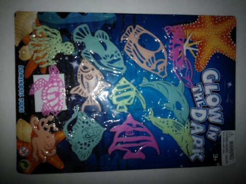 Glow in the Dark Sea Life Wall Decor