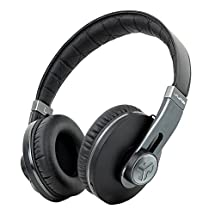 Omni By JLab Premium Folding Bluetooth Wireless Over-Ear Headphone with Mic & Carrying Case, Black Pearl