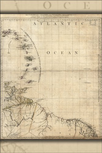 42x63-poster-map-of-caribee-islands-and-guyana-1777