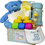 Sweet Baby BOY Care Package Box Gift Box with Teddy Bear
