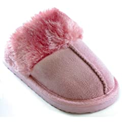 Girls Classic Slip-On Slippers (1 US - 2 US) (Dusky Pink)