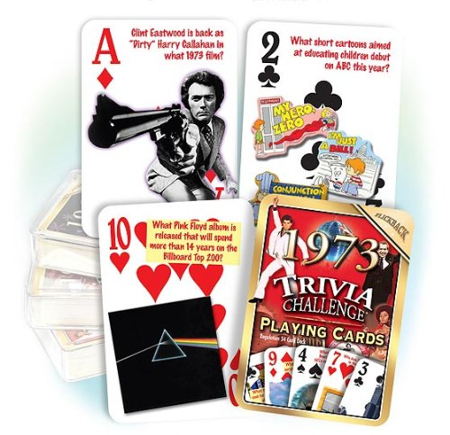 Flickback 1973 Trivia Playing Cards