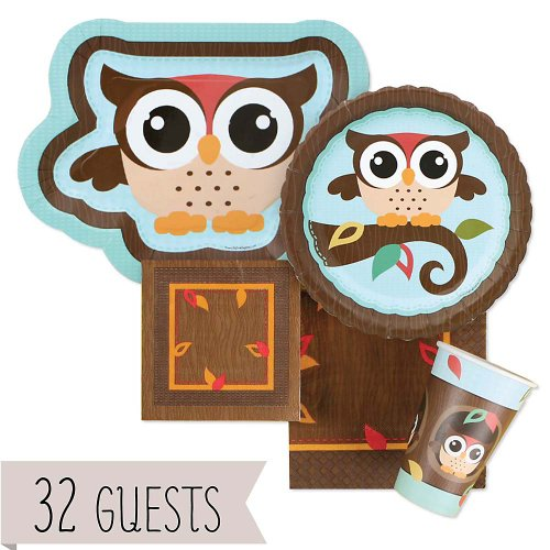 Owl - Look Whooo'S Having A Birthday - Birthday Party 32 Big Dot Bundle front-703857