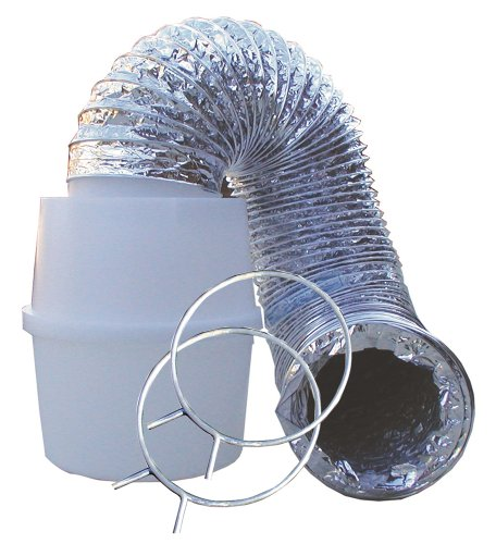 Speedi-Products Ex-Ltk 04 4-Inch By 60-Inch Lint Trap Kit With Bucket & Aluminum Silver Duct front-12057
