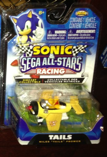 Sonic & Sega All-Stars Racing -TAILS- Miles Tails Prower Diecast Collectible sonic