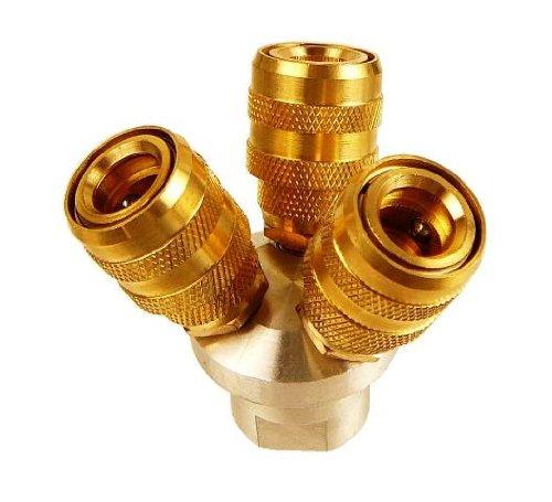 Cheap compressors way air manifold brass quick