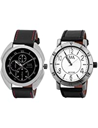 Watch Me Watch Stylish Combo Gift Set For Men And Boys WMAL-78B-75W